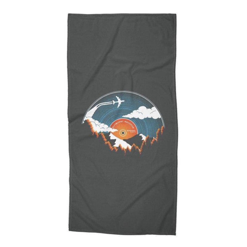 Sunburst Records Redux Accessories Beach Towel by Dianne Delahunty's Artist Shop
