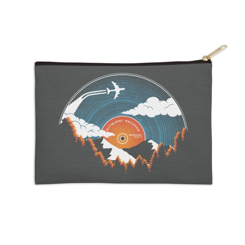Sunburst Records Redux Accessories Zip Pouch by Dianne Delahunty's Artist Shop