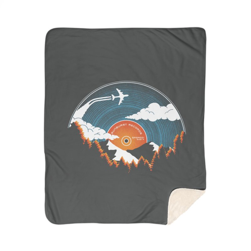 Sunburst Records Redux Home Sherpa Blanket Blanket by Dianne Delahunty's Artist Shop