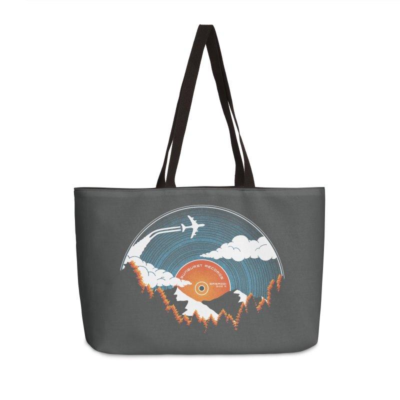 Sunburst Records Redux Accessories Weekender Bag Bag by Dianne Delahunty's Artist Shop