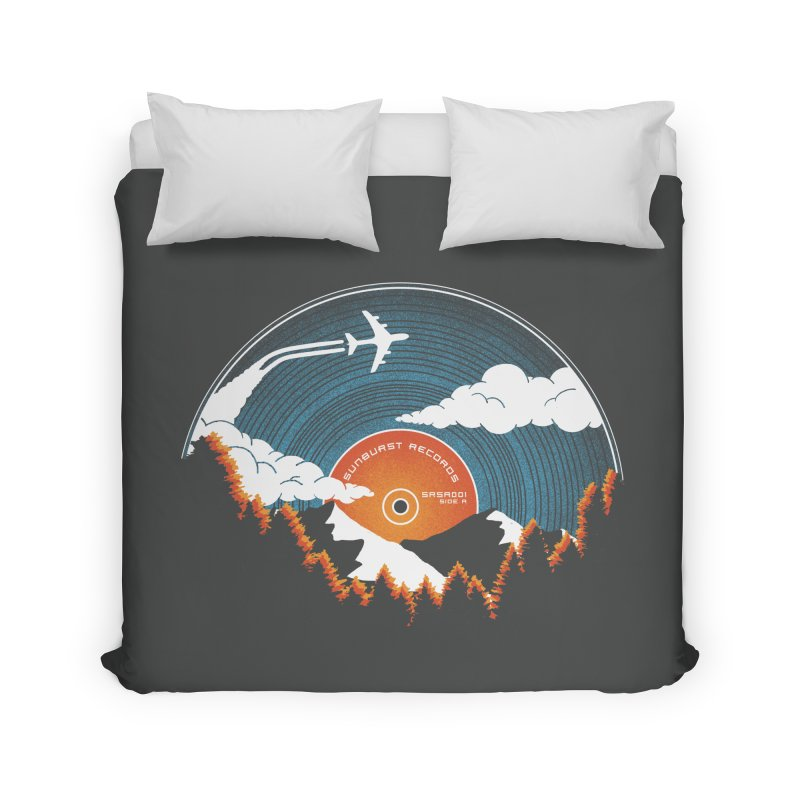 Sunburst Records Redux Home Duvet by Dianne Delahunty's Artist Shop