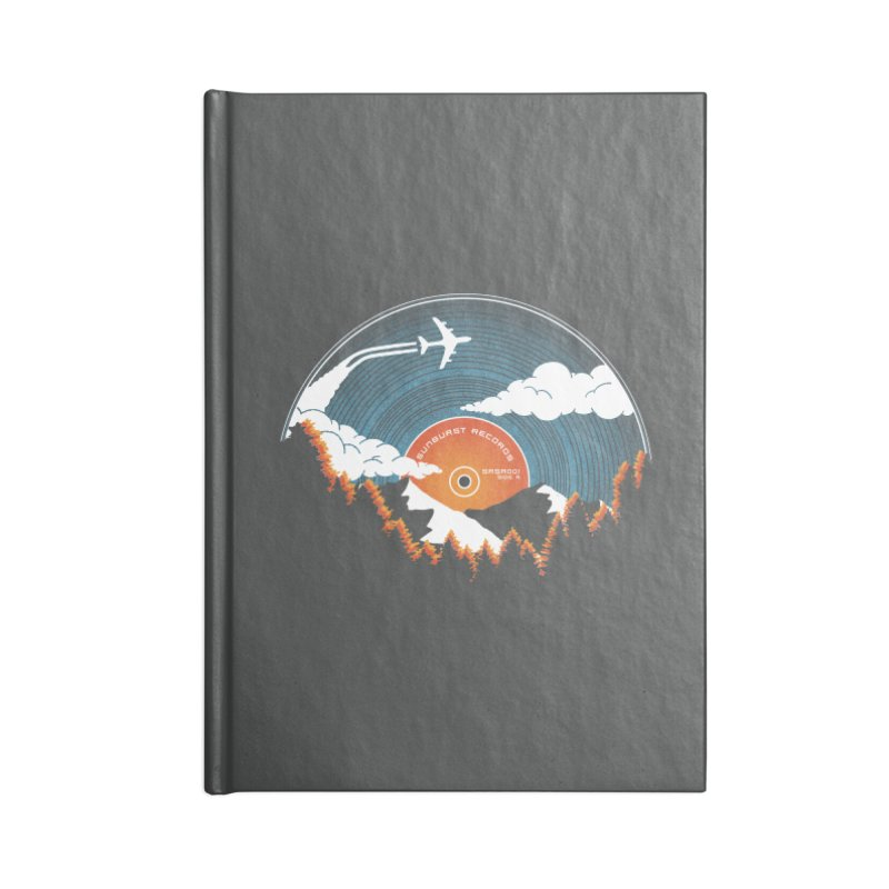 Sunburst Records Redux Accessories Blank Journal Notebook by Dianne Delahunty's Artist Shop