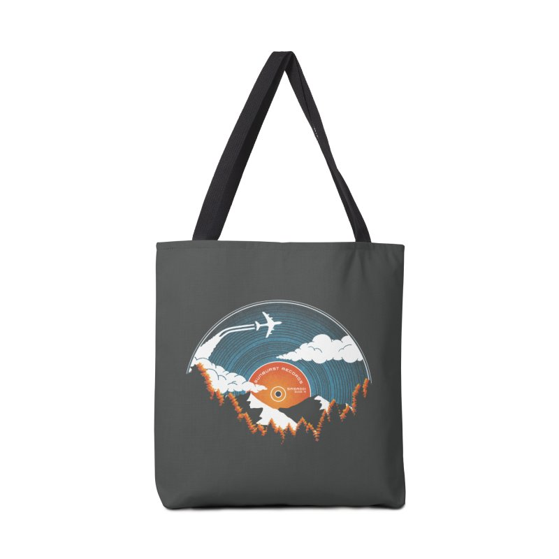 Sunburst Records Redux Accessories Tote Bag Bag by Dianne Delahunty's Artist Shop