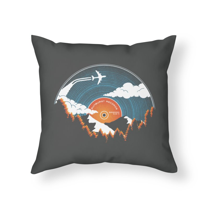 Sunburst Records Redux Home Throw Pillow by Dianne Delahunty's Artist Shop