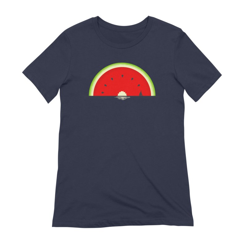 Melon Over Water Women's Extra Soft T-Shirt by Dianne Delahunty's Artist Shop