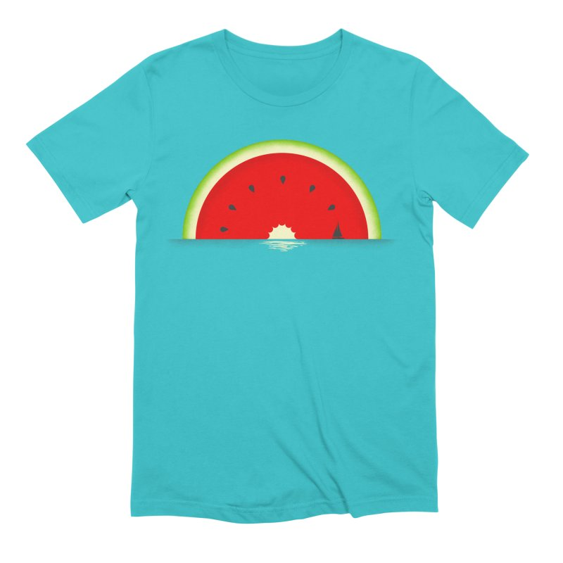Melon Over Water Men's Extra Soft T-Shirt by Dianne Delahunty's Artist Shop