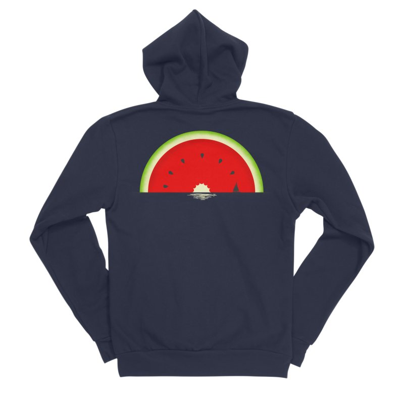 Melon Over Water Men's Sponge Fleece Zip-Up Hoody by Dianne Delahunty's Artist Shop