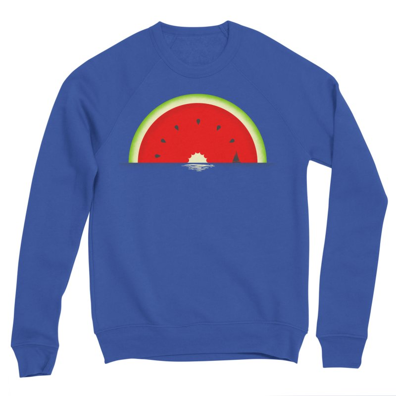 Melon Over Water Men's Sponge Fleece Sweatshirt by Dianne Delahunty's Artist Shop