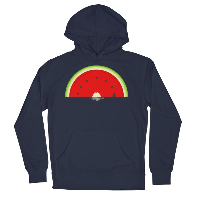 Melon Over Water Men's French Terry Pullover Hoody by Dianne Delahunty's Artist Shop