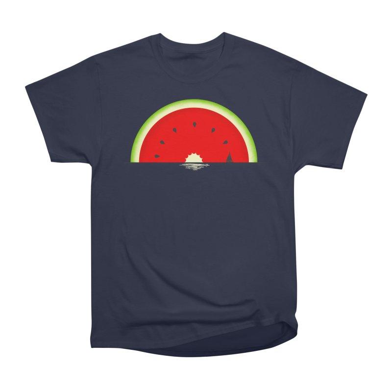 Melon Over Water Men's Heavyweight T-Shirt by Dianne Delahunty's Artist Shop