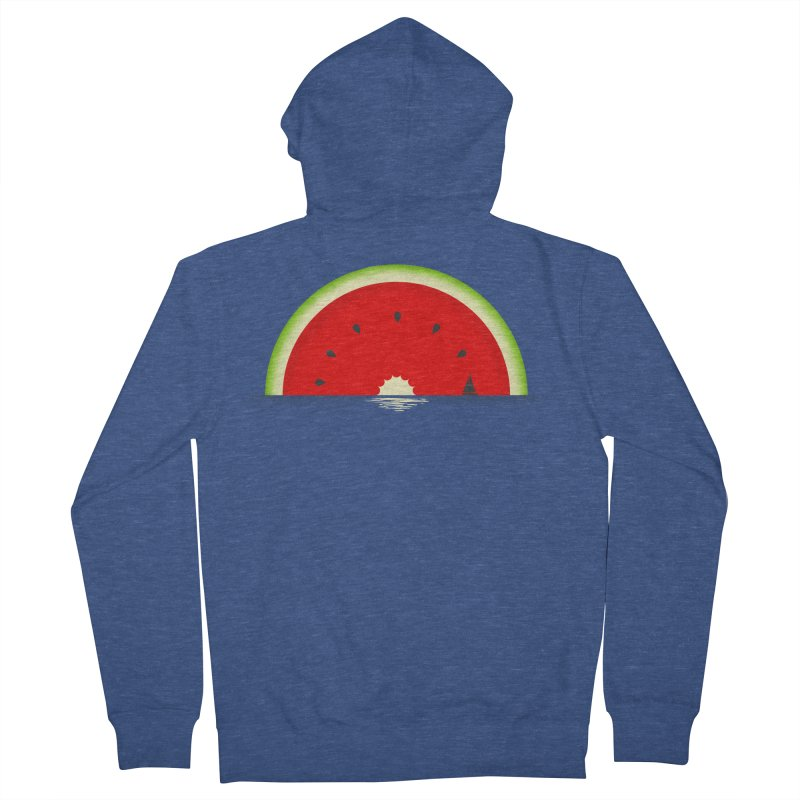 Melon Over Water Women's French Terry Zip-Up Hoody by Dianne Delahunty's Artist Shop