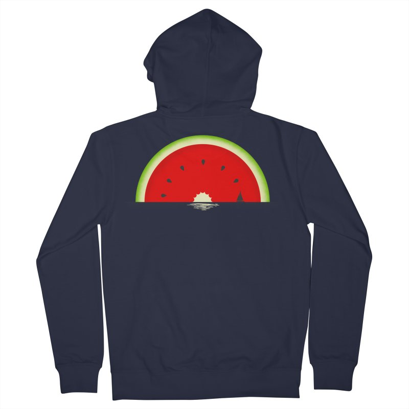 Melon Over Water Men's French Terry Zip-Up Hoody by Dianne Delahunty's Artist Shop