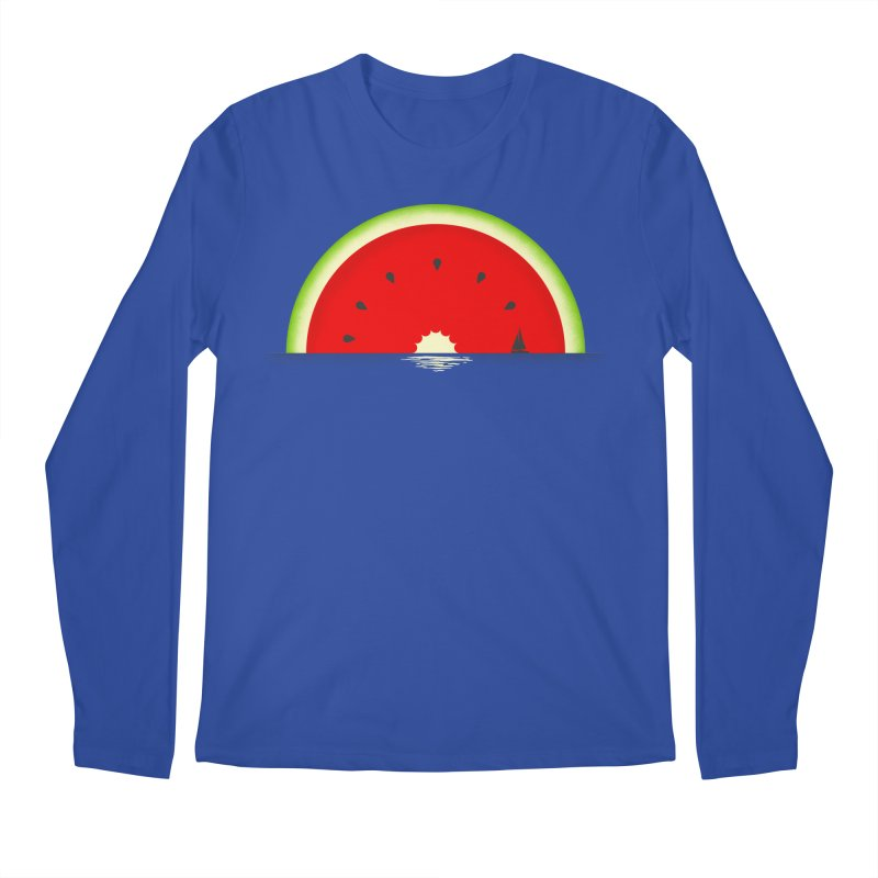 Melon Over Water Men's Regular Longsleeve T-Shirt by Dianne Delahunty's Artist Shop