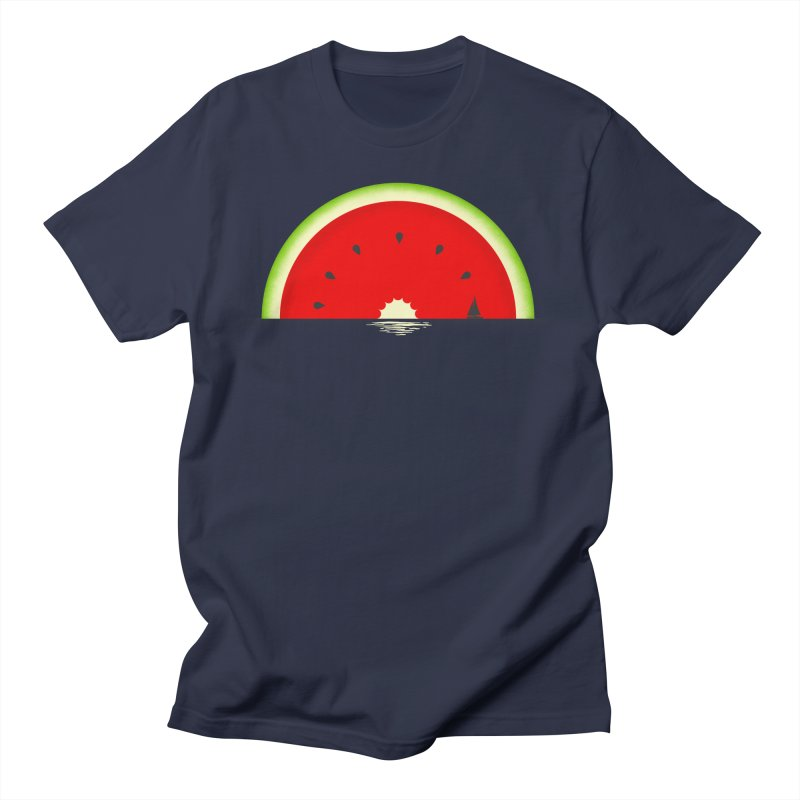 Melon Over Water Men's Regular T-Shirt by Dianne Delahunty's Artist Shop