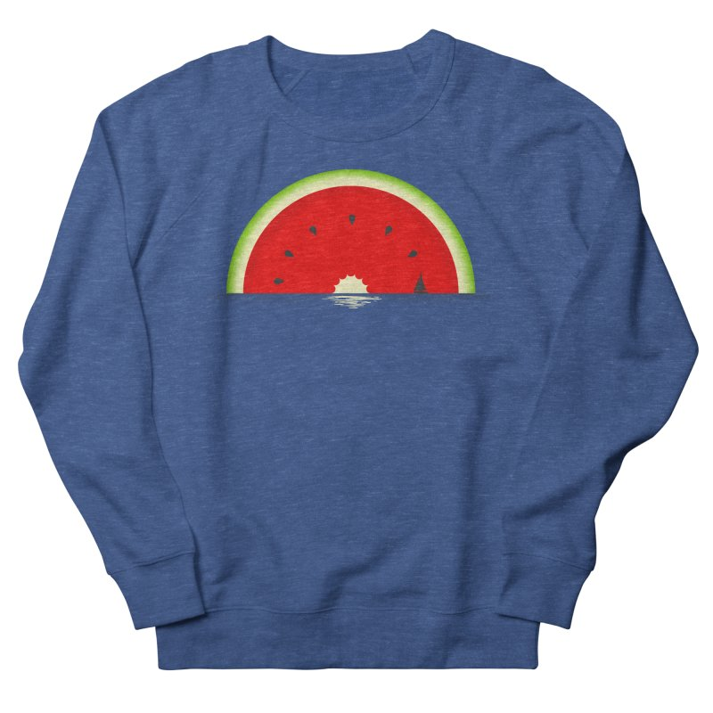 Melon Over Water Men's French Terry Sweatshirt by Dianne Delahunty's Artist Shop