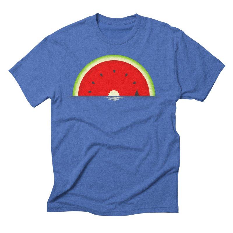 Melon Over Water Men's Triblend T-Shirt by Dianne Delahunty's Artist Shop
