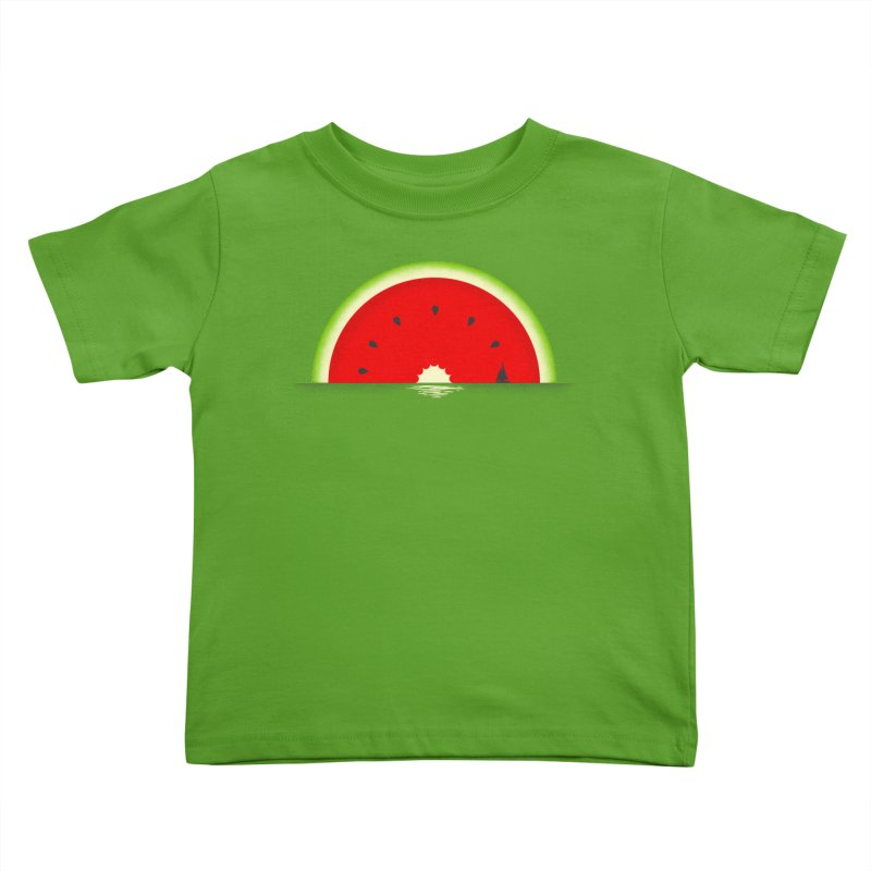 Melon Over Water Kids Toddler T-Shirt by Dianne Delahunty's Artist Shop