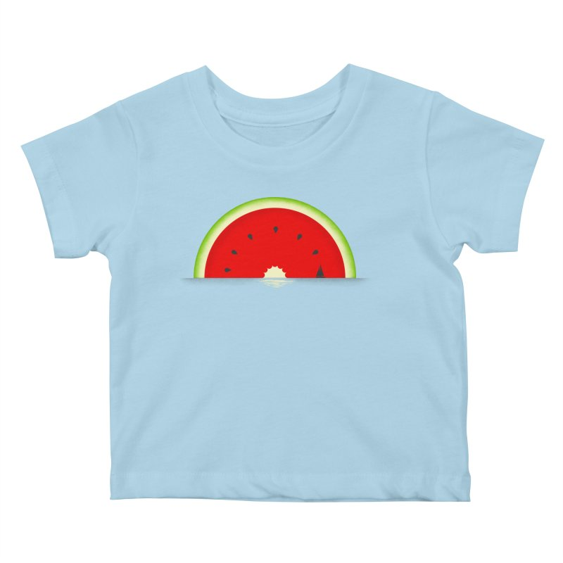 Melon Over Water Kids Baby T-Shirt by Dianne Delahunty's Artist Shop