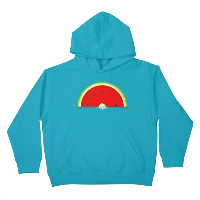 Melon Over Water Kids Pullover Hoody by Dianne Delahunty's Artist Shop
