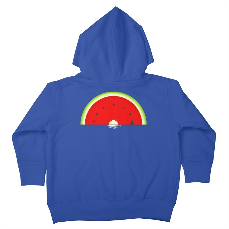 Melon Over Water Kids Toddler Zip-Up Hoody by Dianne Delahunty's Artist Shop