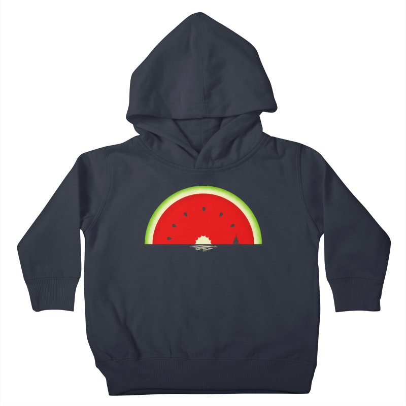 Melon Over Water Kids Toddler Pullover Hoody by Dianne Delahunty's Artist Shop