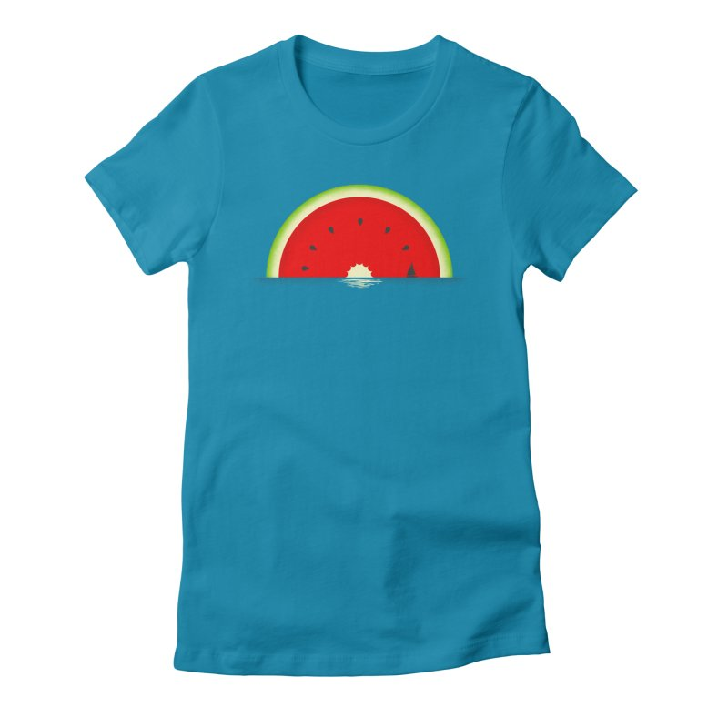 Melon Over Water Women's Fitted T-Shirt by Dianne Delahunty's Artist Shop