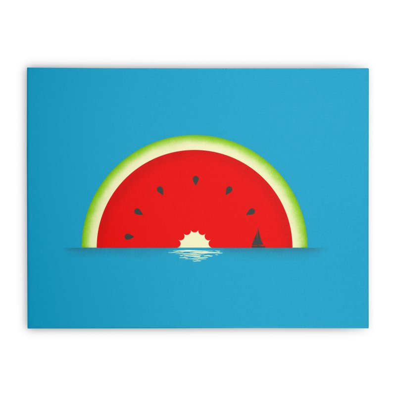 Melon Over Water Home Stretched Canvas by Dianne Delahunty's Artist Shop