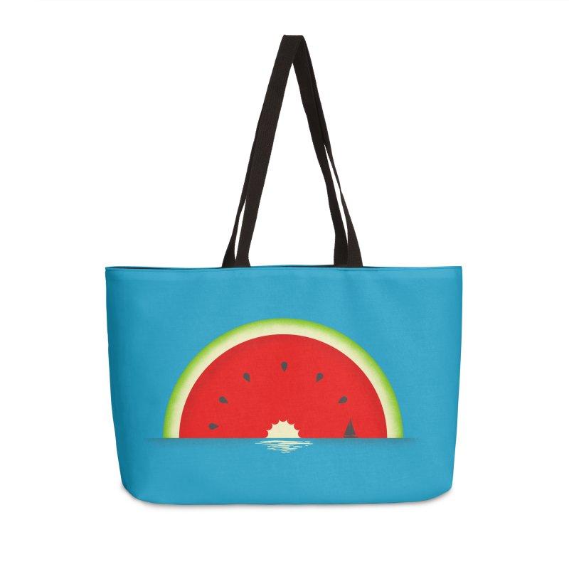 Melon Over Water Accessories Weekender Bag Bag by Dianne Delahunty's Artist Shop