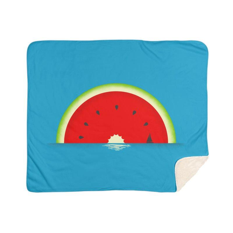 Melon Over Water Home Sherpa Blanket Blanket by Dianne Delahunty's Artist Shop