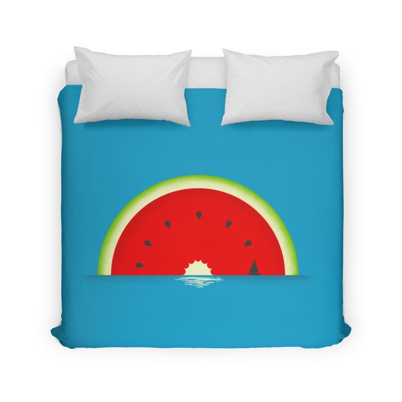 Melon Over Water Home Duvet by Dianne Delahunty's Artist Shop