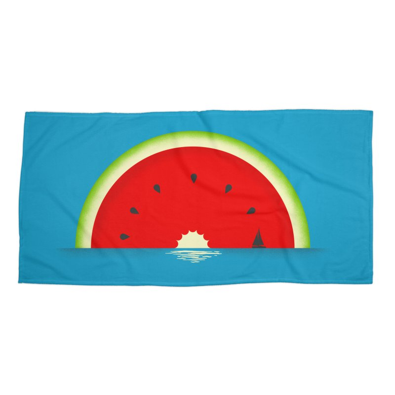 Melon Over Water Accessories Beach Towel by Dianne Delahunty's Artist Shop