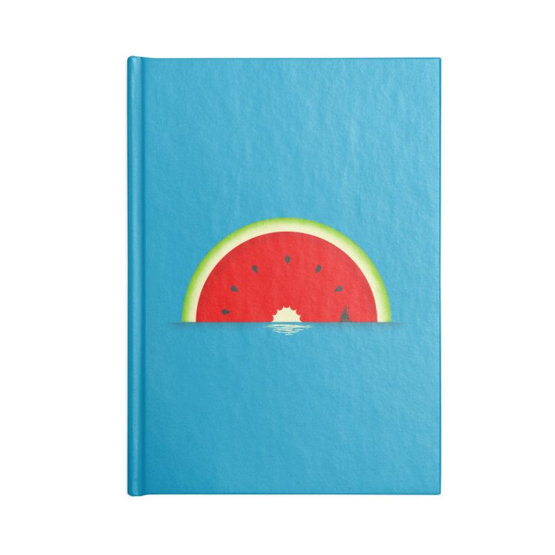Melon Over Water Accessories Lined Journal Notebook by Dianne Delahunty's Artist Shop