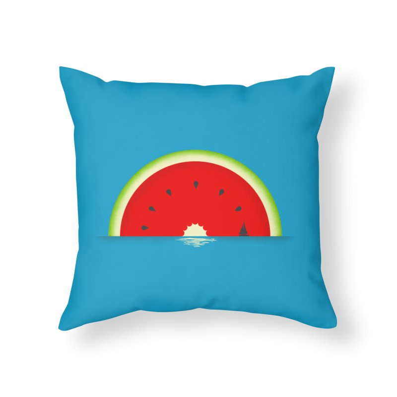Melon Over Water Home Throw Pillow by Dianne Delahunty's Artist Shop