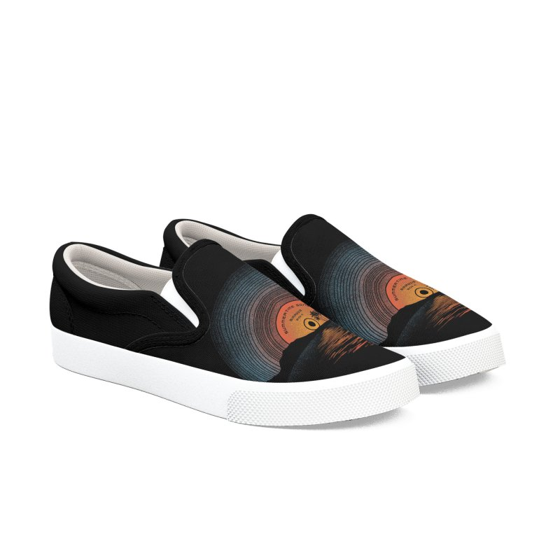 Sound Of Summer Men's Slip-On Shoes by Dianne Delahunty's Artist Shop