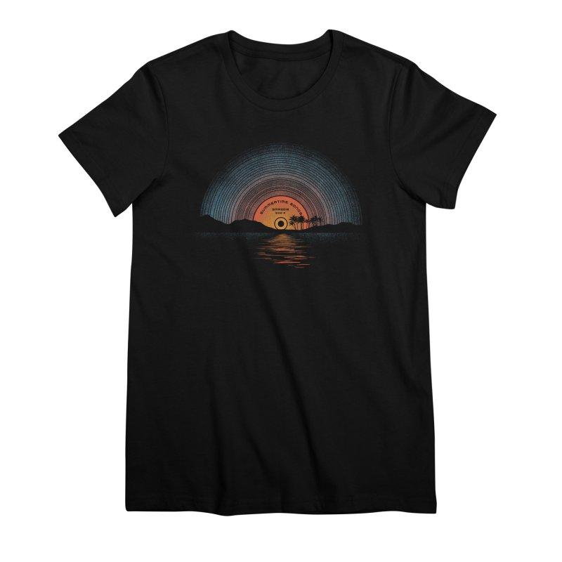 Sound Of Summer Women's Premium T-Shirt by Dianne Delahunty's Artist Shop