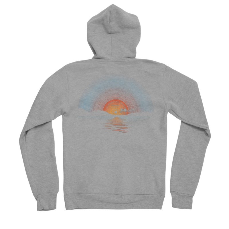 Sound Of Summer Men's Sponge Fleece Zip-Up Hoody by Dianne Delahunty's Artist Shop