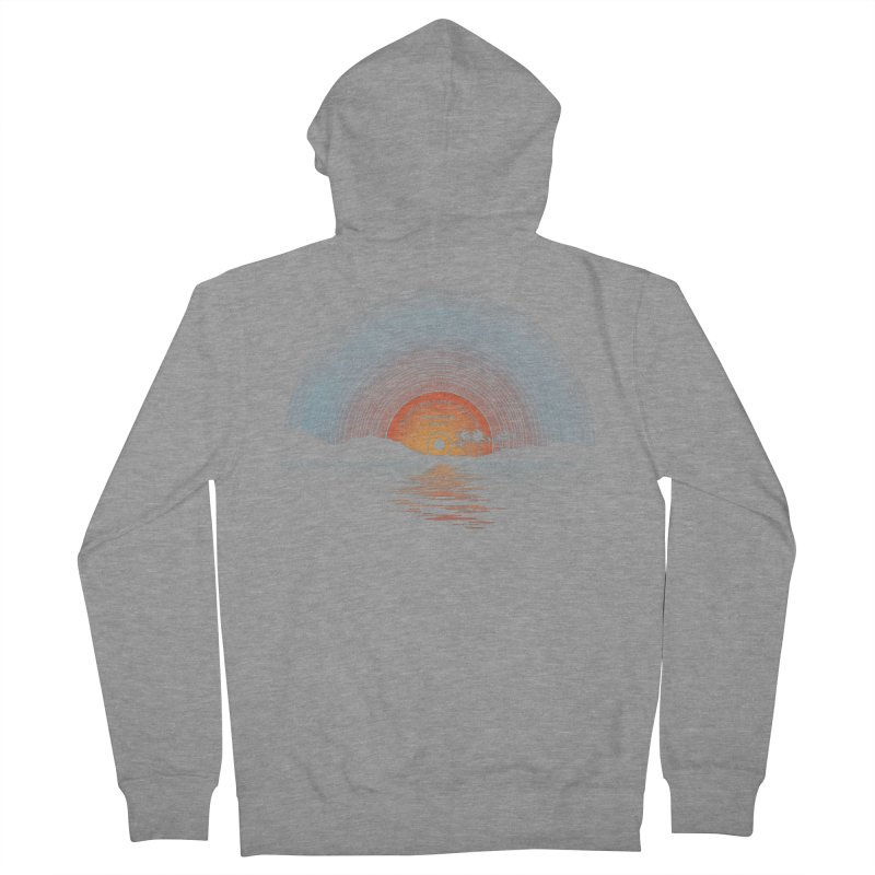 Sound Of Summer Men's French Terry Zip-Up Hoody by Dianne Delahunty's Artist Shop