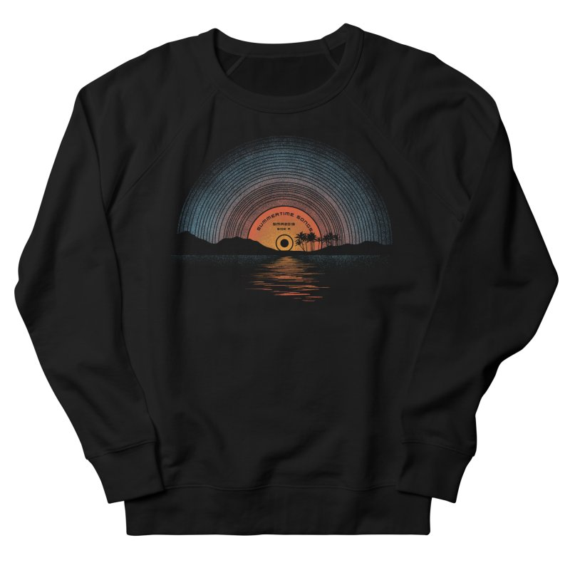 Sound Of Summer Men's French Terry Sweatshirt by Dianne Delahunty's Artist Shop
