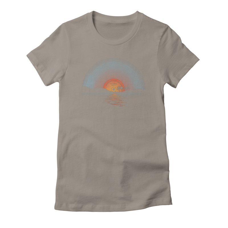 Sound Of Summer Women's Fitted T-Shirt by Dianne Delahunty's Artist Shop