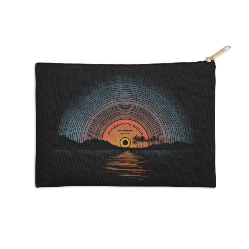 Sound Of Summer Accessories Zip Pouch by Dianne Delahunty's Artist Shop