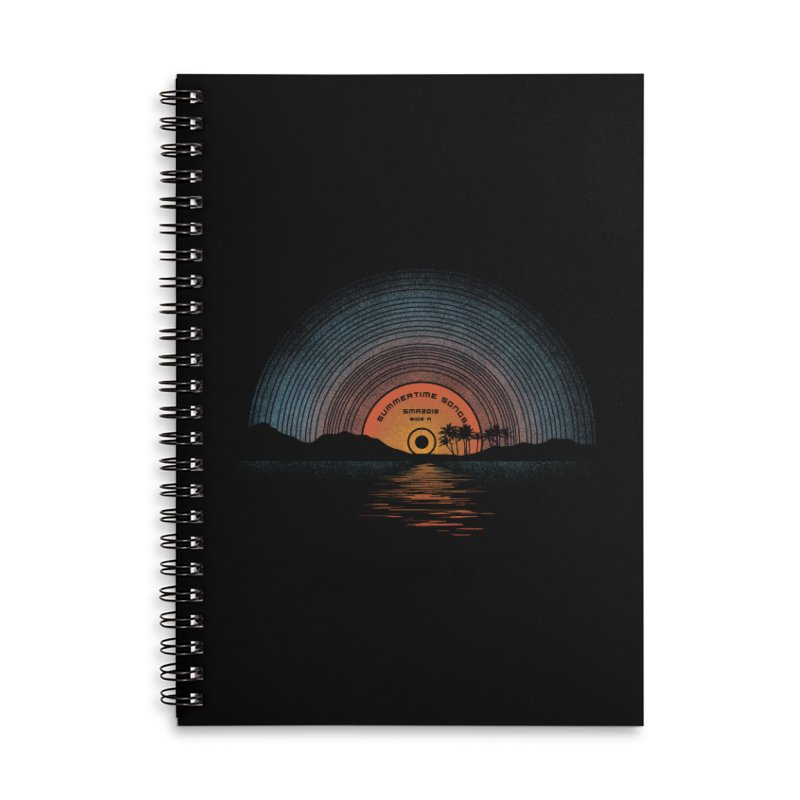 Sound Of Summer Accessories Lined Spiral Notebook by Dianne Delahunty's Artist Shop