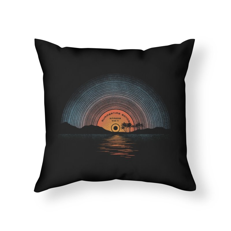 Sound Of Summer Home Throw Pillow by Dianne Delahunty's Artist Shop