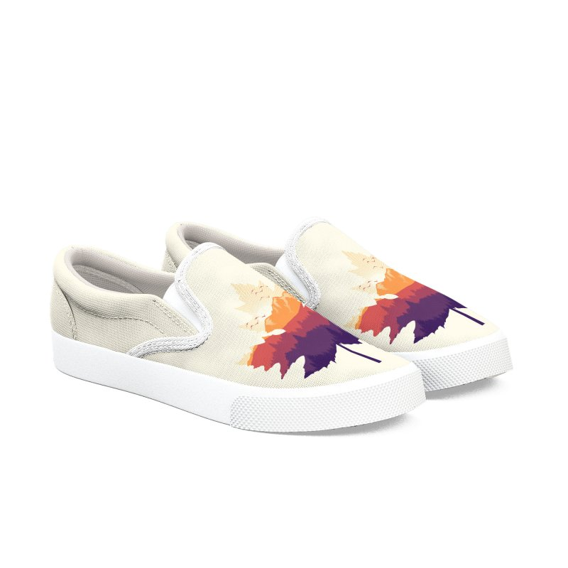 Leafscape Men's Slip-On Shoes by Dianne Delahunty's Artist Shop