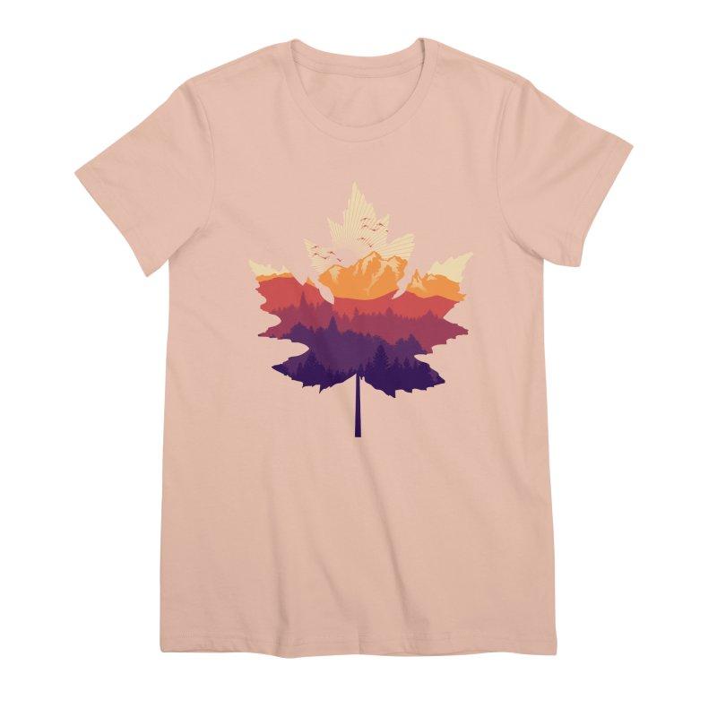 Leafscape Women's Premium T-Shirt by Dianne Delahunty's Artist Shop