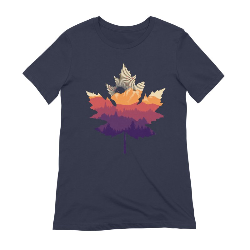 Leafscape Women's Extra Soft T-Shirt by Dianne Delahunty's Artist Shop