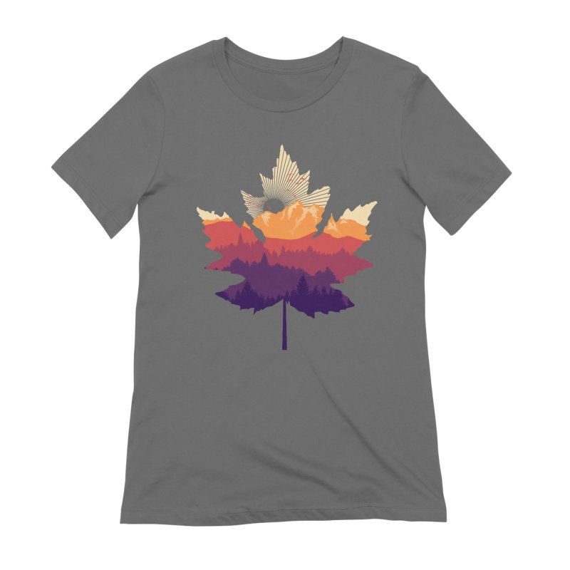 Leafscape Women's Extra Soft T-Shirt by Dianne Delahunty's Artist Shop