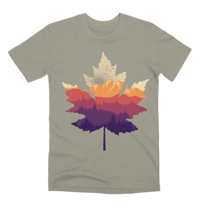 Leafscape Men's Premium T-Shirt by Dianne Delahunty's Artist Shop