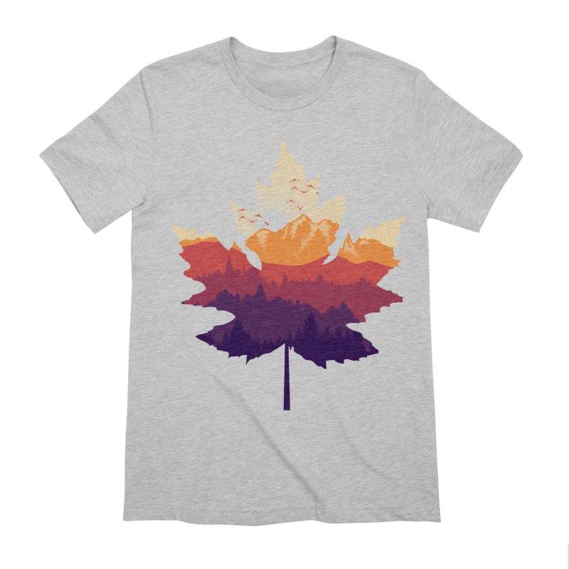 Leafscape Men's Extra Soft T-Shirt by Dianne Delahunty's Artist Shop