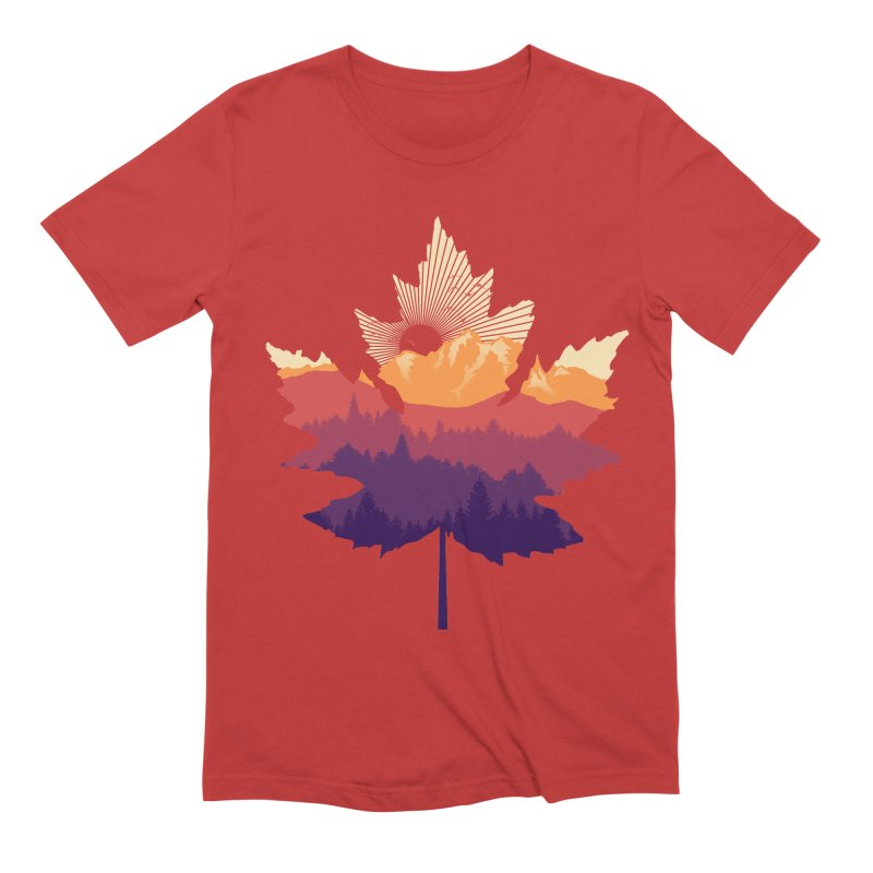 Leafscape Men's Extra Soft T-Shirt by Dianne Delahunty's Artist Shop