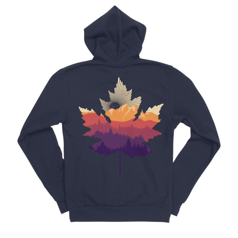 Leafscape Men's Sponge Fleece Zip-Up Hoody by Dianne Delahunty's Artist Shop